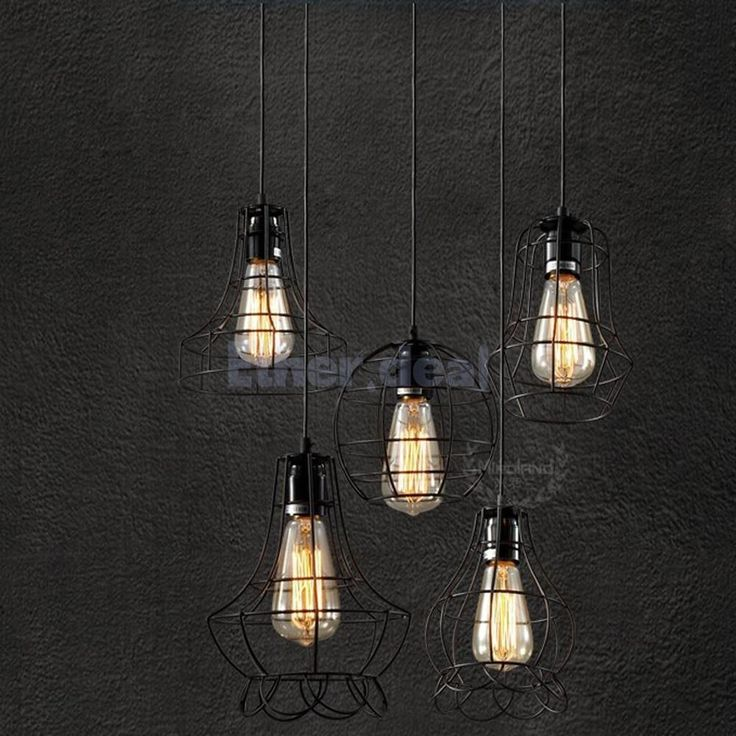 E27 Edisonlampe Lampenschirm Hängelampe Deckenlampe Kupfer Antik Stil Ver.Modell