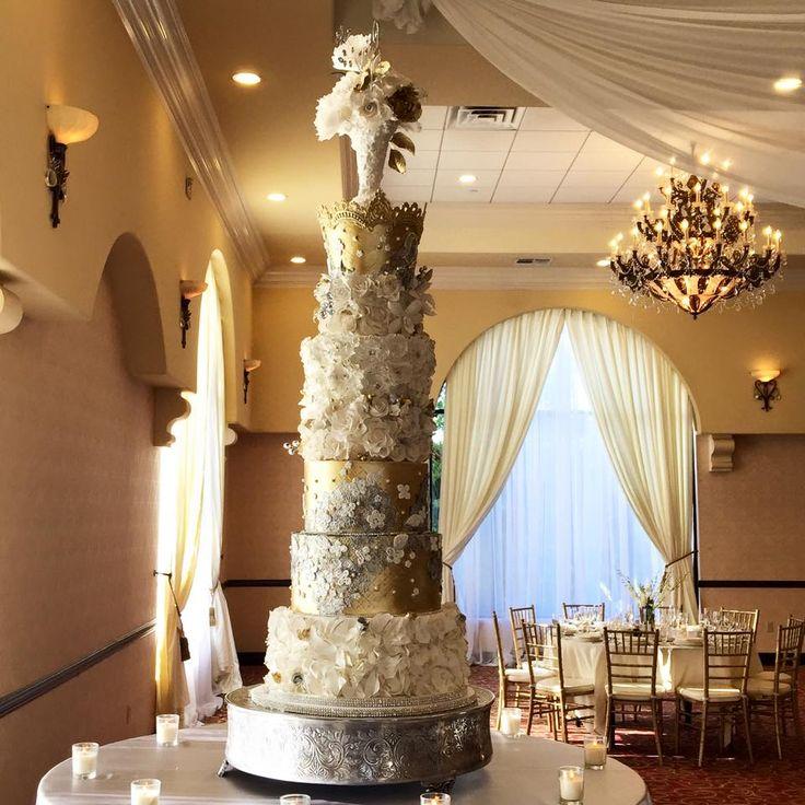 5 Foot Tall Wedding Cake created by Orange County wedding cake designer RooneyGirl BakeShop > http://www.rooneygirlbakeshop.com/