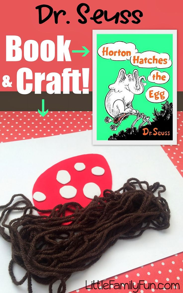Fun Dr. Seuss craft to go with the book- Horton Hatches the Egg! Great idea!