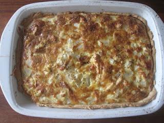 Tærte med kylling og asparges