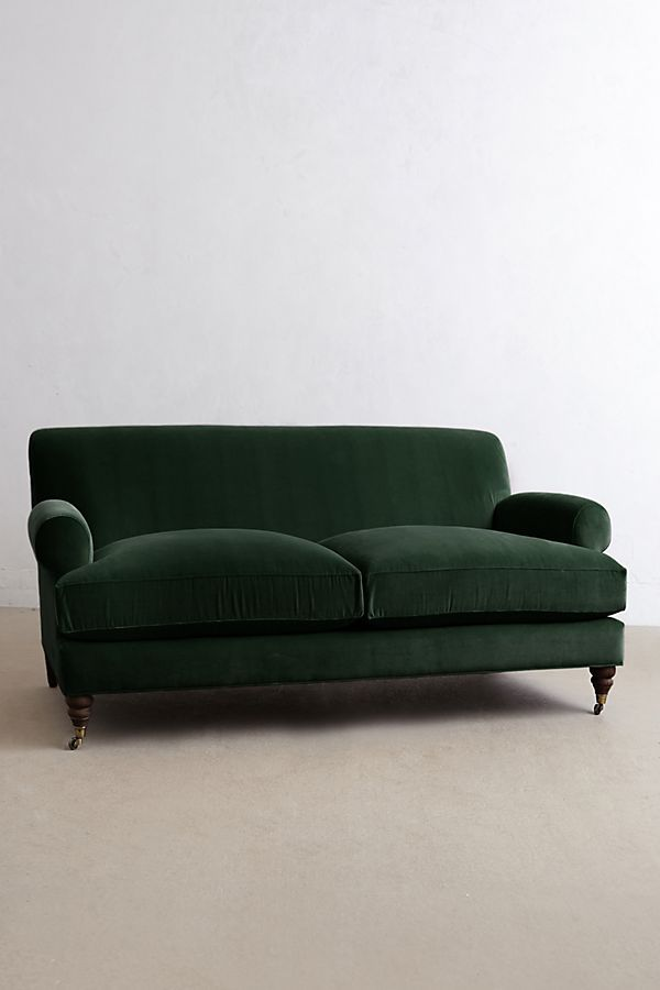 Slide View 1 Velvet Willoughby Sofa Hickory Legs Velvet Sofa Uk Sofa Velvet Settee
