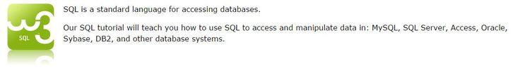 SQL Tutorial - W3School