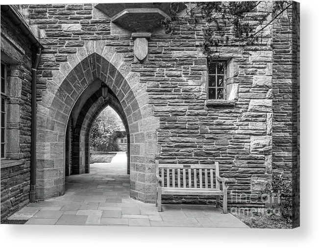 Swarthmore College Acrylic Print featuring the photograph Swarthmore College Bond Hall by University Icons