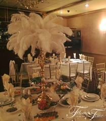 Wedding white feather Centerpiece, Bride Ideas, by Flowers Time #golden#toronto#style#elegant#stunning