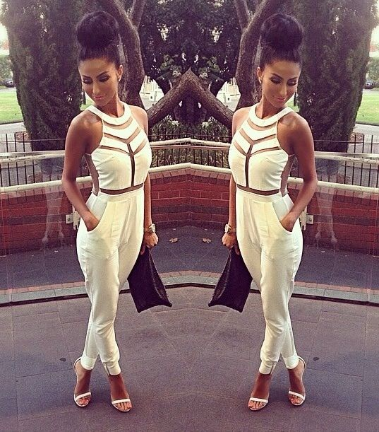 17 Best images about JUMPSUITS on Pinterest | Rompers, All white ...