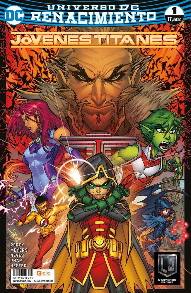 EDICIÓN ORIGINAL: Teen Titans: Rebirth núm. 1 USA (one-shot), Teen Titans núms. 1 a 7 USA ARGUMENTO: Los Jóvenes Titanes están más separados que nunca... hasta que Damian Wayne recluta a Starfire, Raven, Chico Bestia y el nuevo Kid Flash, surgido de la serie regular del Velocista Escarlata, para enfrentarse a su propio abuelo... ¡más conocido como Ra's al Ghul! Como nuevo líder... ¿estará Robin a la altura? ¿O los Jóvenes Titanes tendrán que despedir a este pequeño dictador? ¡Benj...