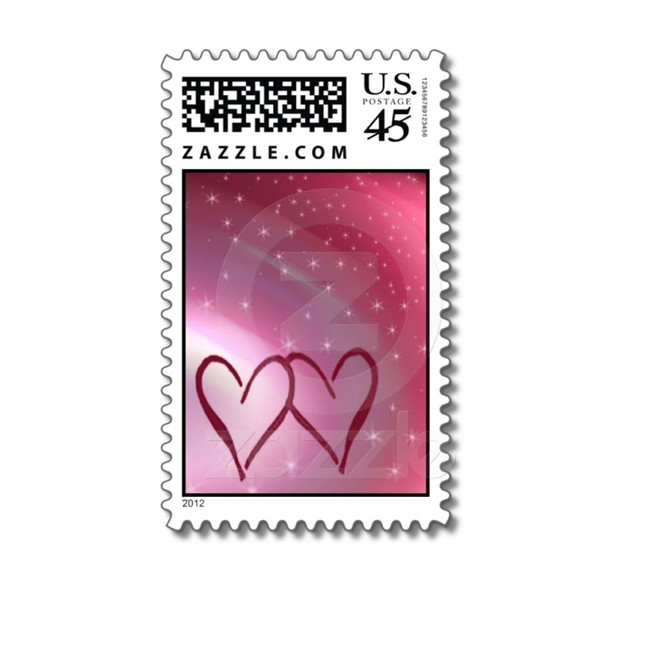 Two Hearts Love Stamp