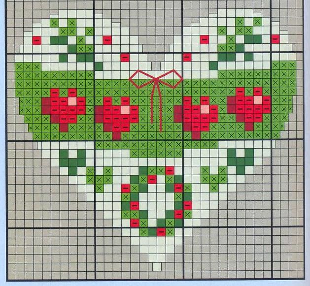 Points de croix *♥* Cross stitch Heart 3