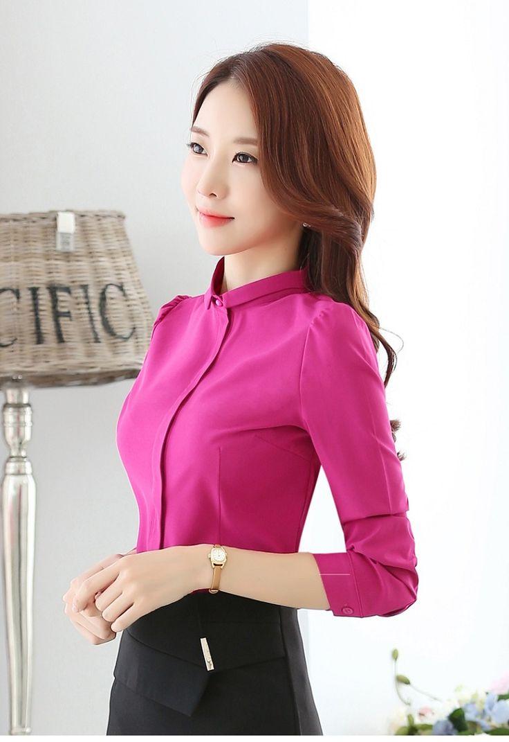 Блузка Рубашка Женщин 2016 Осенью Новый Корейский Моды С Длинным Рукавом дамы Офис Рубашки Рабочая Одежда Плюс Размер Женщин Clothing For топы купить на AliExpress