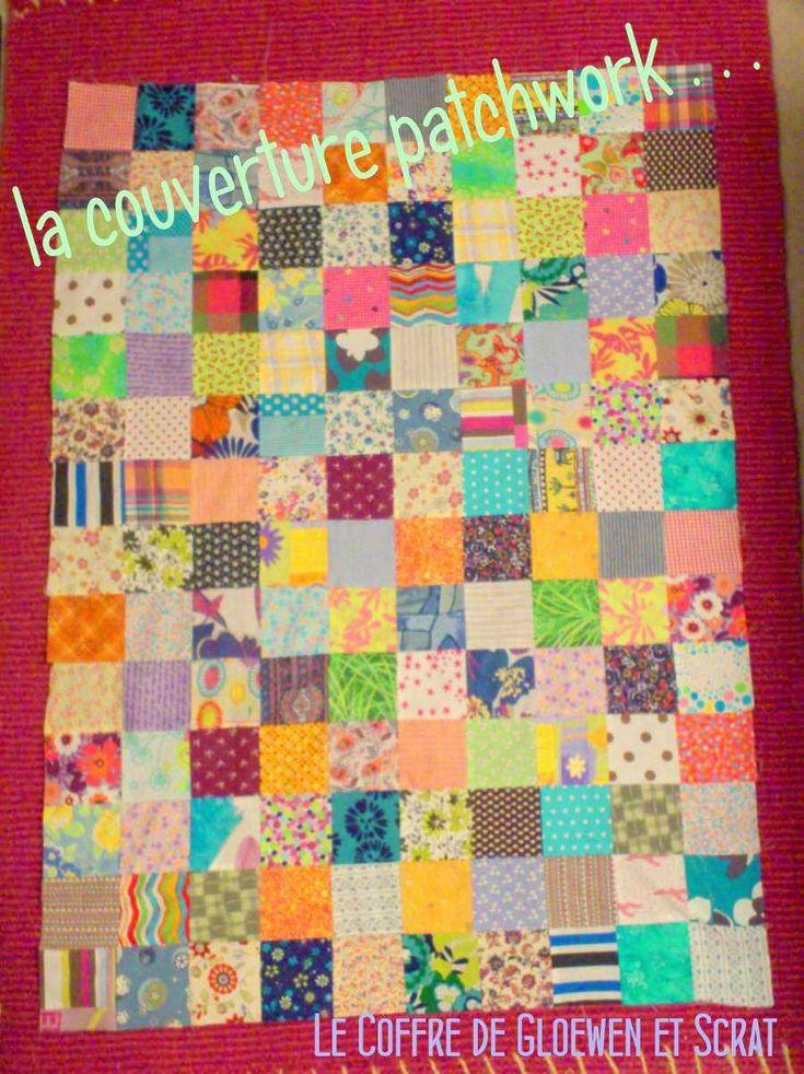 12 best couverture facile images on pinterest couvertures couture de patchwork et couture enfant - Tuto patchwork gratuit ...