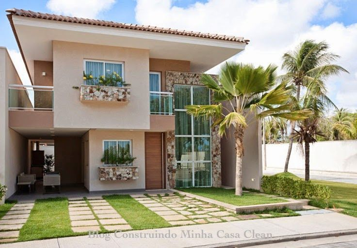 Fachadas de casas com garagem cleanses for Casas minimalistas pequenas