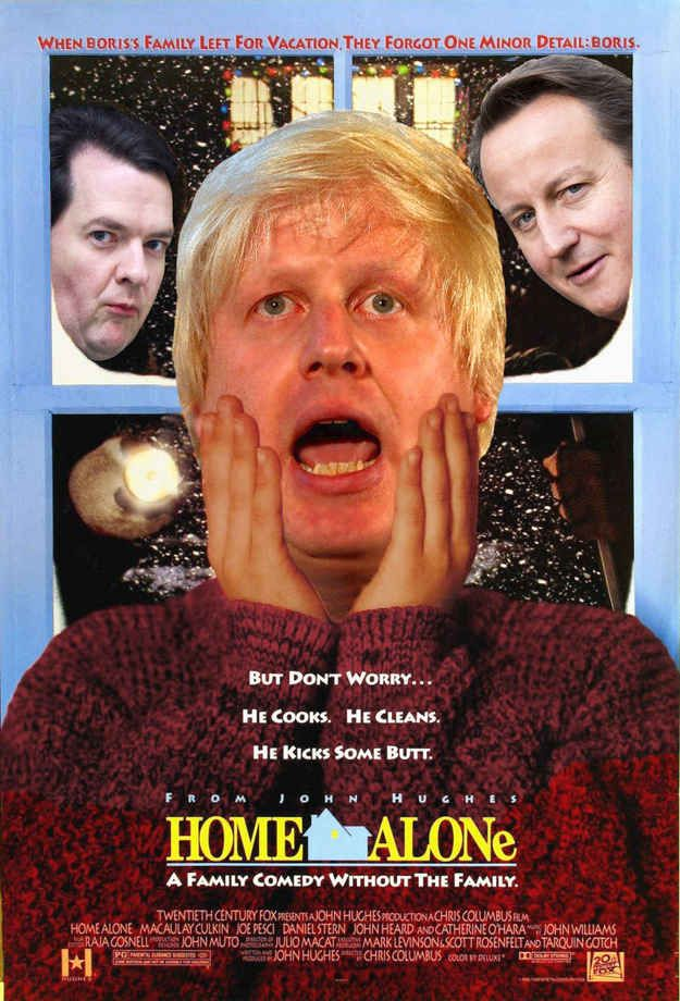 11 Film Posters Made Better By Boris Johnson... Home Alone made me spit out my tea!!