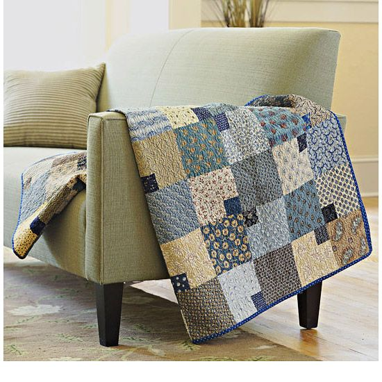 I love love love quilts. I love the neutral colors and patterns and the  patchwork design.