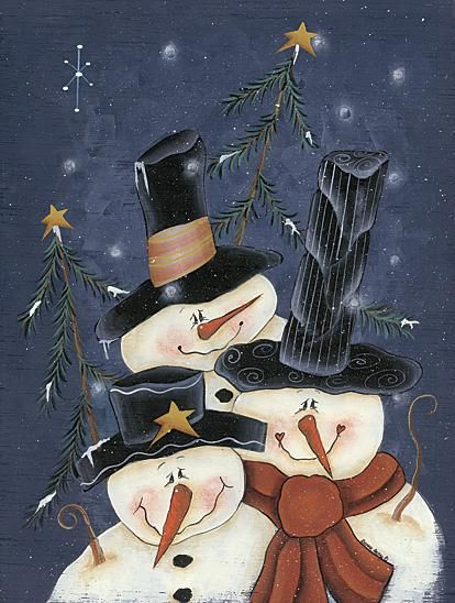 I love this.. I want to be part of that Snowman Family.