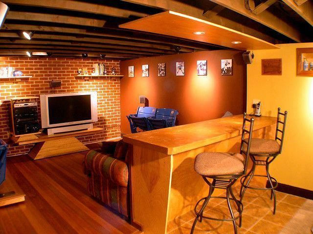 Basement Man Cave Ideas With Hardwood Flooring Basementmancaveideas Man Cave Basement Man Cave Ideas Cheap Man Cave Home Bar