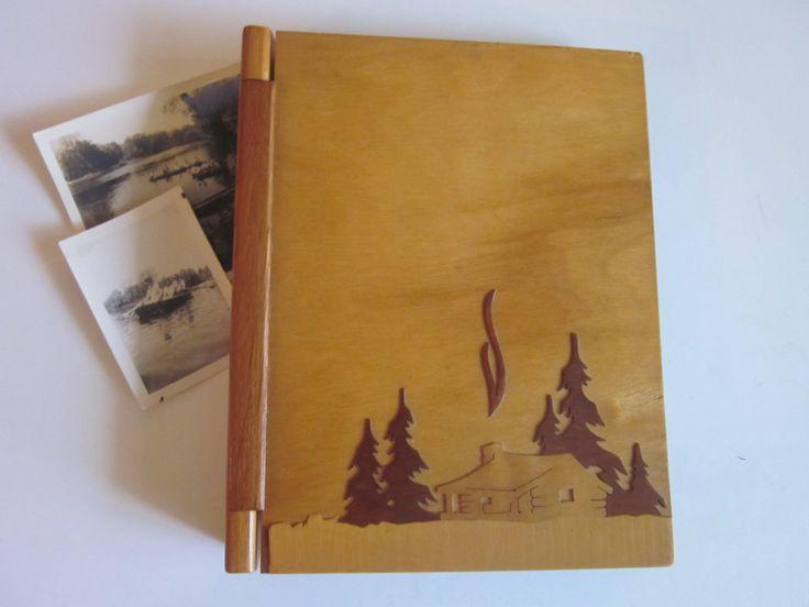 Wooden Photo Album, Scrapbook, Vintage, 1940's by SweetlyAgedVintage on Etsy