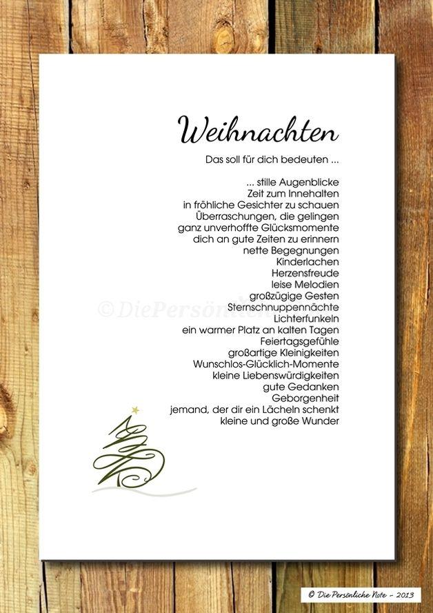 Druck/Wandbild/Print: Segenswunsch - Weihnachten