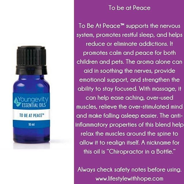 To be at Peace:  Check out the incredible line of blends with Youngevity!  For more information about this essential oil, or any of the other essential oils in the #youngevity family, check out my blog at www.lifestylewithhope.com #tobeatpeace www.lifestylewithhope.com/VIPS