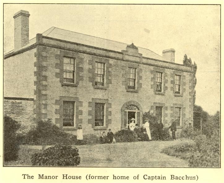 Manor House, former home of Captain Bacchus, c1936