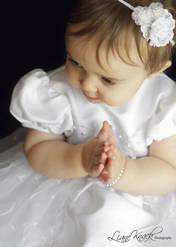 The PERFECT White BAPTISM Headband by bellasbowtique2008 on Etsy, $9.99