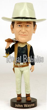 This John Wayne #bobblehead includes remarkable detail, such as his signature belt buckle, bullet belt, and even a removable soft rubber cowboy hat. #RoyalBobbles