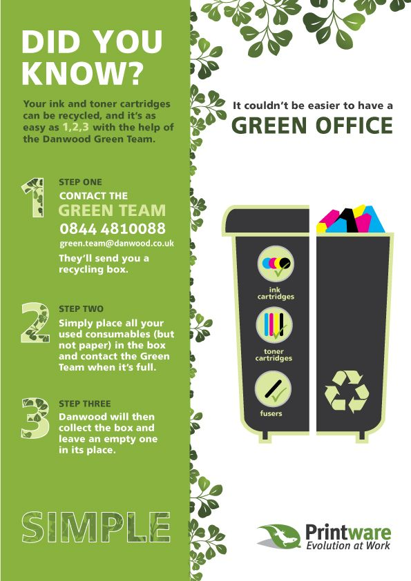 A quick and easy way for businesses to recycle their toner cartridges.