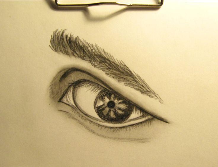 #drawing #carbon #eye