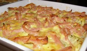 1 kskvěták 1 stroužekčesnek 2 lžícemáslo 2 lžícenasakaná petrželka 250 gšunka 3 ksvejce 100 mlmléka 100 gtavený sýr (Karička, veselá kráva, ...) 100 ggouda sýr pepř sůl muškátový oříšek