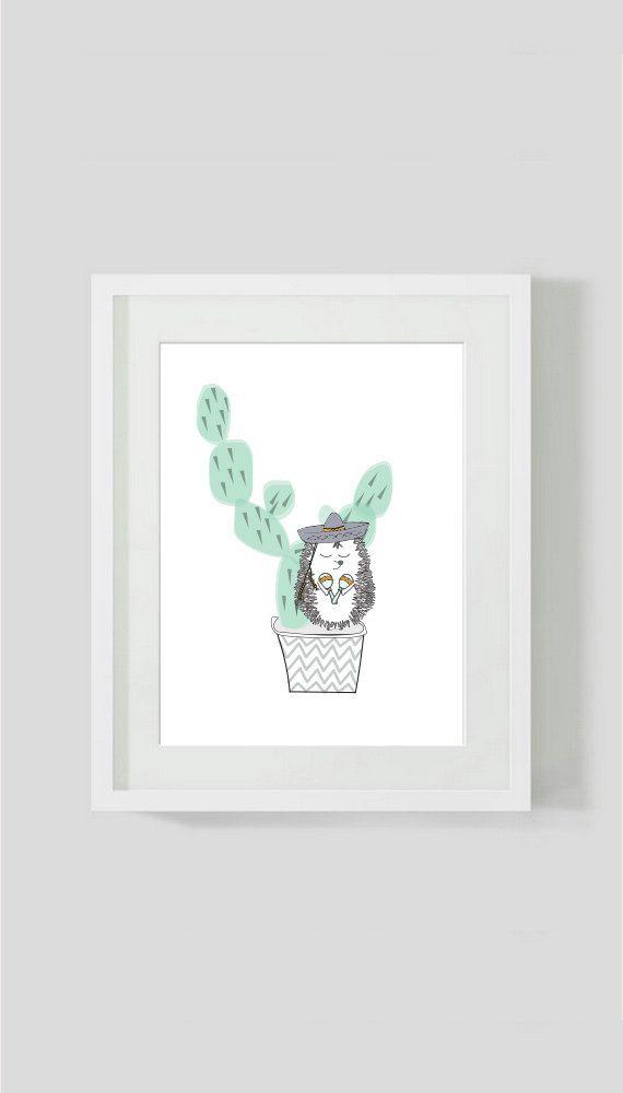 Childrens cactus print  cactus wall art  by ByBrokenTricycle #kidsinteriors #kidsdecor #kidswallart #kidsroom #boysroom #babybysnursery #cactus #kidsbedroom #kidsinteriordesigner
