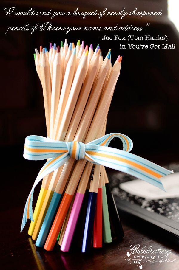 {For You} A Bouquet of Newly Sharpened Pencils | Celebrating everyday life with Jennifer Carroll