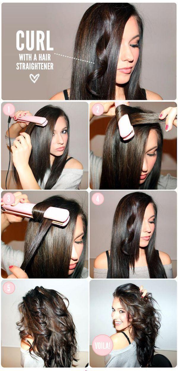 Cómo Curl con un alisador de pelo   Maquillaje Mania