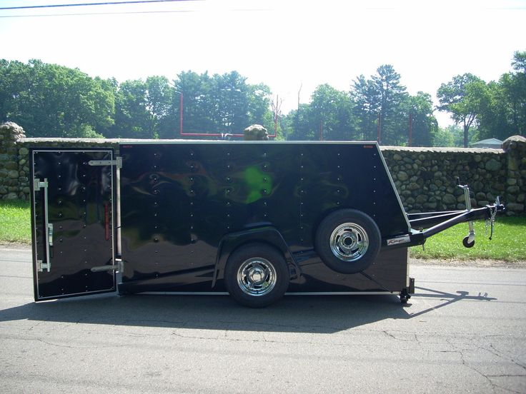 2 Bike Enclosed Removable Pod Trailer Camper trailers