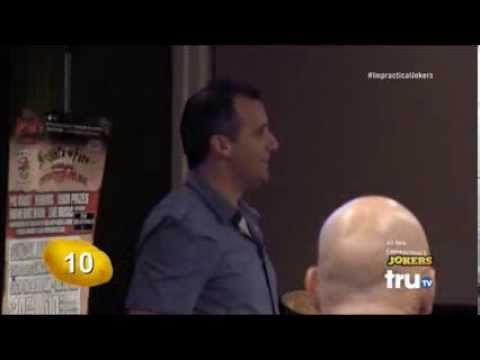 Scoopski Potatoes- Joe- Impractical Jokers....I love how he comes running back in the end for one more!