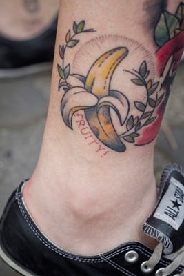 25 best ideas about fruit tattoo on pinterest random for Best lotion for old tattoos