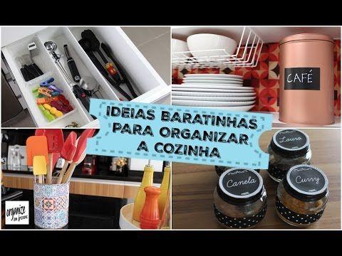 IDEIAS BARATINHAS E SUSTENTÁVEIS PARA ORGANIZAR A COZINHA | Organize sem...