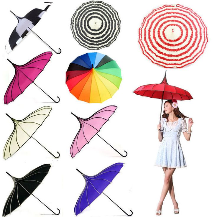 Features: A rain resistant and super sun-block umbrella. must-have for ladies in daily wear ,or Wedding, party, prom, evening out,as well as photograph ,or advertise using. Material: Metal rib  UV Fabric.   eBay!