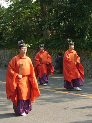 Aoi-Matsuri (Aoi-festival)in Kyoto Japan.    Heian-era costume.