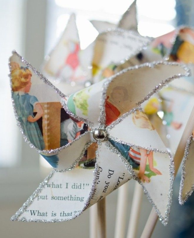 These pinwheels will bring some sparkle to your NYE party! Photo by Miss Mustard Seed