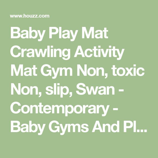 Baby Play Mat Crawling Activity Mat Gym Non, toxic Non, slip, Swan - Contemporary - Baby Gyms And Play Mats - by Blancho Bedding