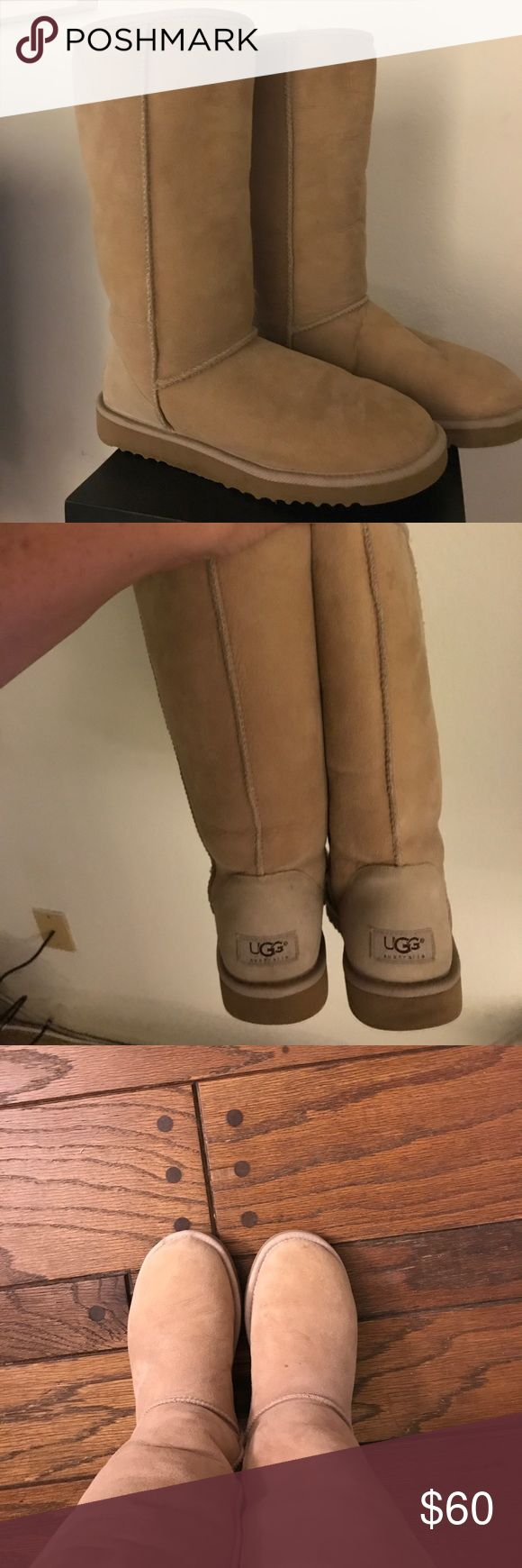 Genuine Classic UGG boots in Chestnut Like New! These are original Uggs. Genuine Classic Ugg Boots in Chestnut color, size 7 women's.  Cozy Sterling Lining and Sheepskin upper. UGG Shoes Winter & Rain Boots