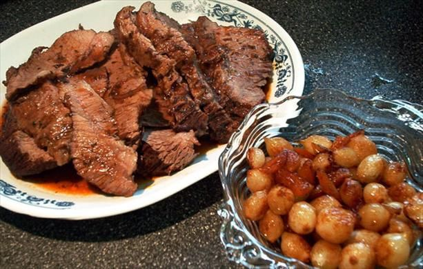 Wine-Braised Brisket of Beef With Caramelized Pearl Onions | Recipe