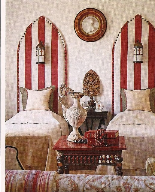 Fab striped headboards bedroom pinterest bedrooms for Beach house headboard ideas