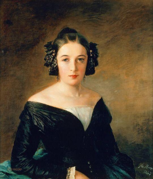 Portrait of Frederika Arnold - Adolph von Menzel 1845
