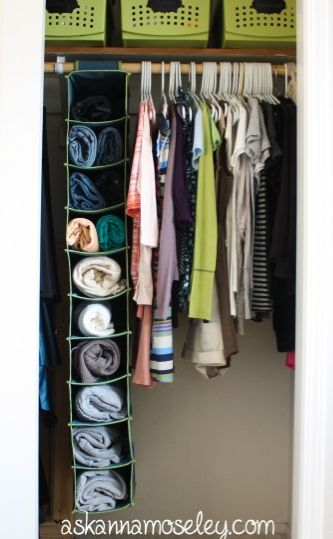 Space saving closet solutions - Ask Anna