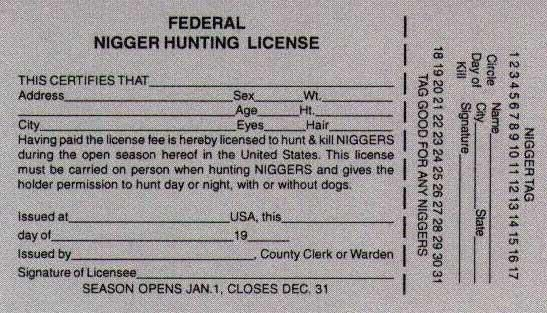Federal nigger hunting license things to remember for Ak fishing license
