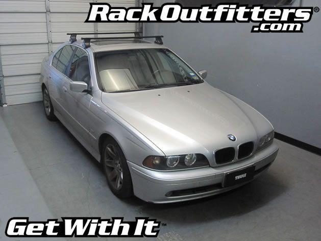 BMW 5 Series Thule Traverse Square Bar Base Roof Rack U002797 U002703