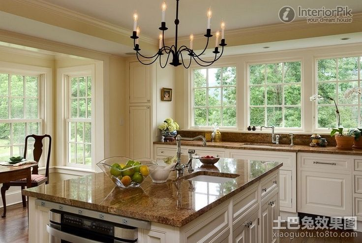 Effect Bild der idyllischen amerikanische Küche Dekoration |