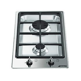 smeg dominostyle topmount gas cooktop with two burners auction