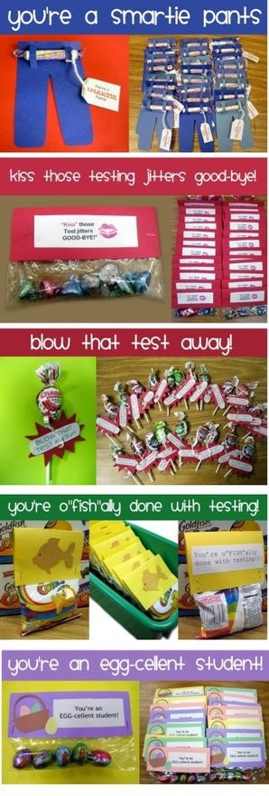 Testing week encouragement (Ideas for any important tests being given to students)