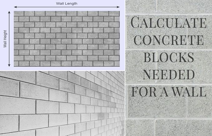 Calculate The Blocks Required For A Wall In 2020 Concrete Blocks Concrete Blocks